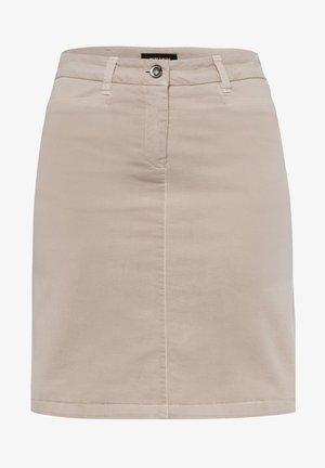 Denim skirt - beige