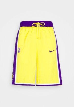NBA LA LAKERS SHORT - Club wear - amarillo/field purple/white