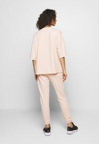 Missguided - DROP SHOULDER OVERSIZED 2 PACK - Basic T-shirt - black/pink - 2