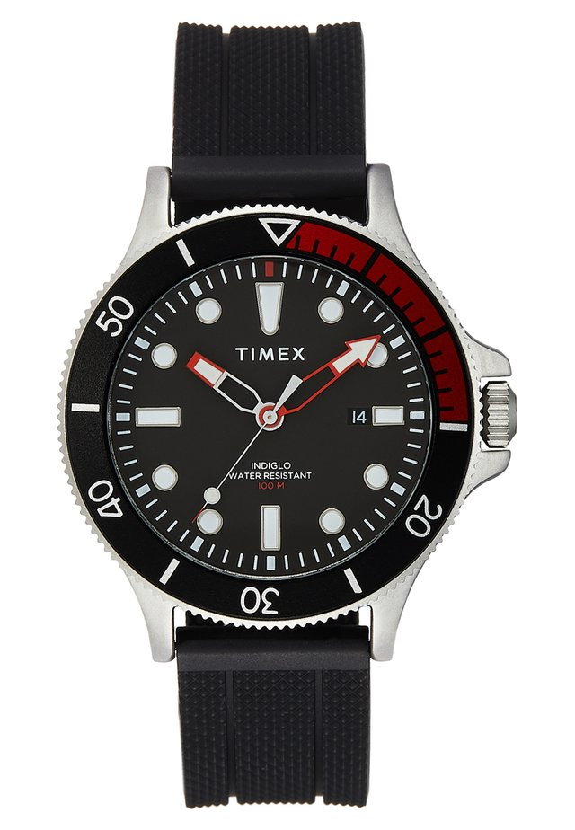 ALLIED COASTLINE 43 mm - Hodinky - black/red