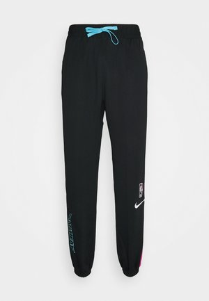 NBA MIAMI HEAT CITY EDITION THERMAFLEX PANT - Pantalon de survêtement - black/laser fuchsia/blue gale