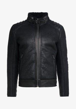 WESTLAKE JACKET - Kožená bunda - black