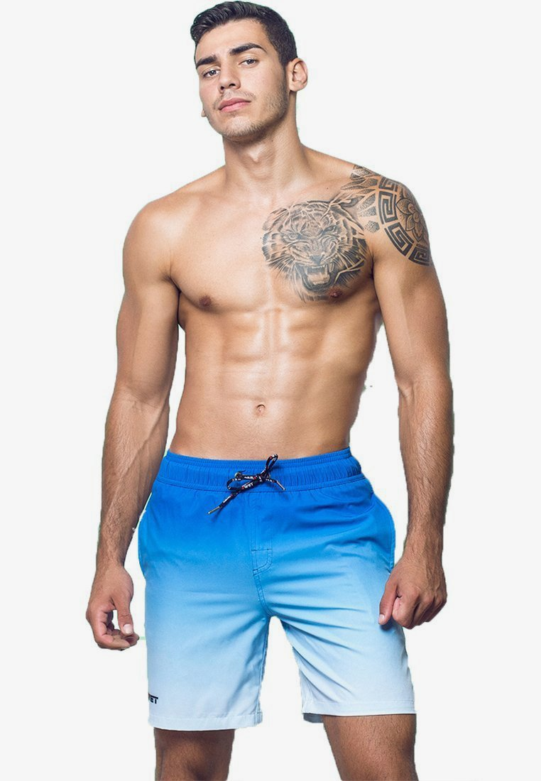 BWET Swimwear - QUICK DRY PERFECT FIT MAROON BEACH - Sports shorts - blue