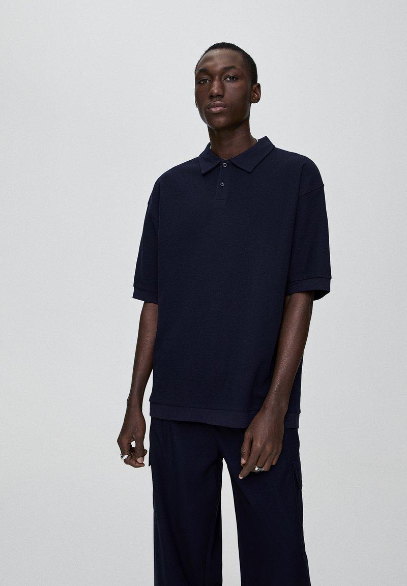 PULL&BEAR - Polo shirt - dark blue