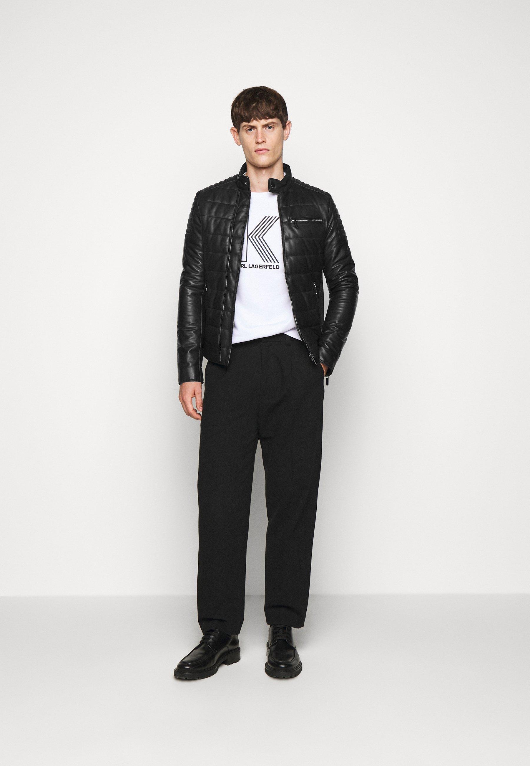 Karl Lagerfeld Biker Jacket - Lederjacke Black
