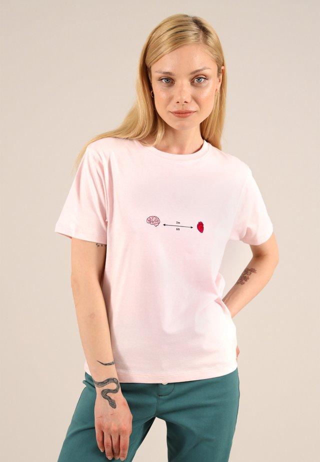 T-shirt med print - pink