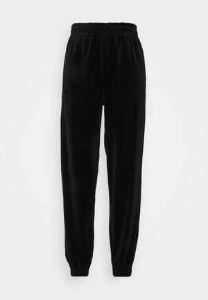 VELOUR JOGGER - Tracksuit bottoms - black