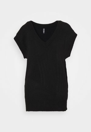 PCCHRIS V NECK - Neule - black