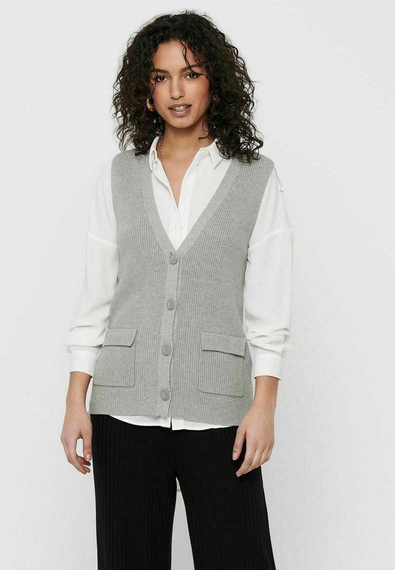 ONLY - ONLFLORELLE - Waistcoat - light grey melange