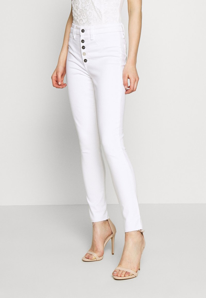 Joe's Jeans - THE CHARLIE ANKLE BUTTONFLY CUT - Jeans Skinny Fit - white