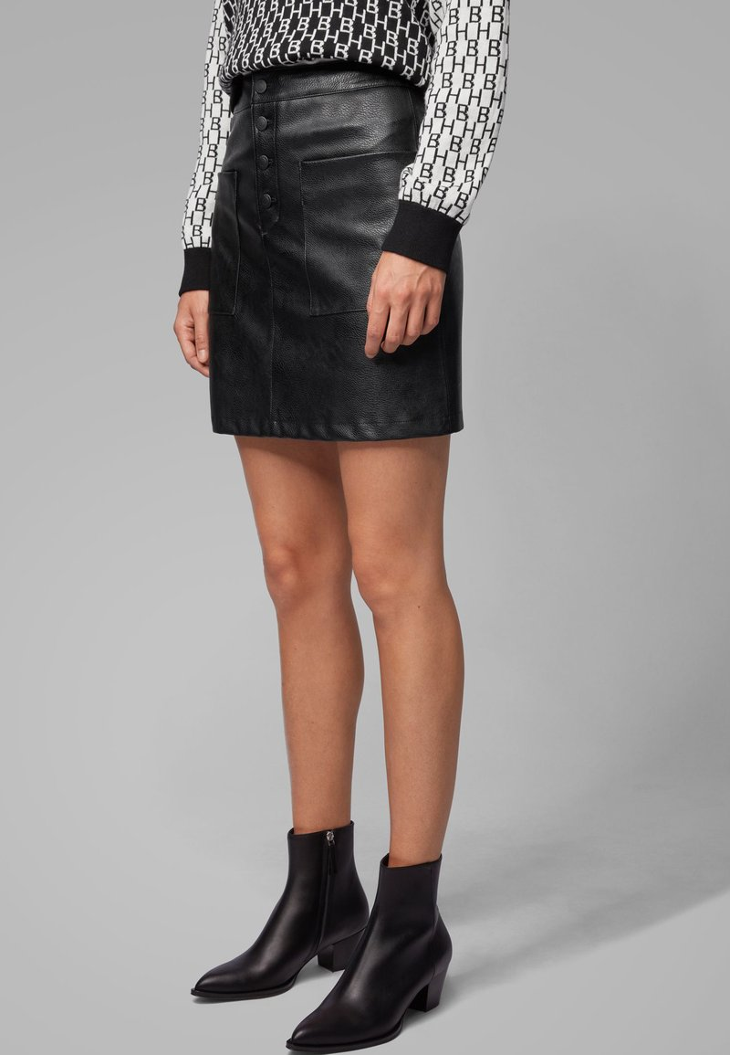 BOSS - BISARA - A-line skirt - black
