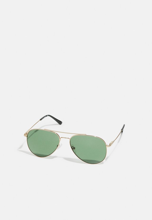 UNISEX - Sunglasses - gold-coloured/green