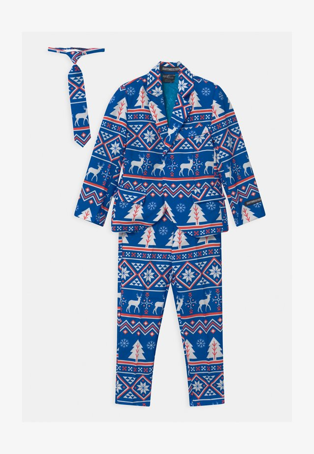 BOYS CHRISTMAS NORDIC SET - Oblek - blue