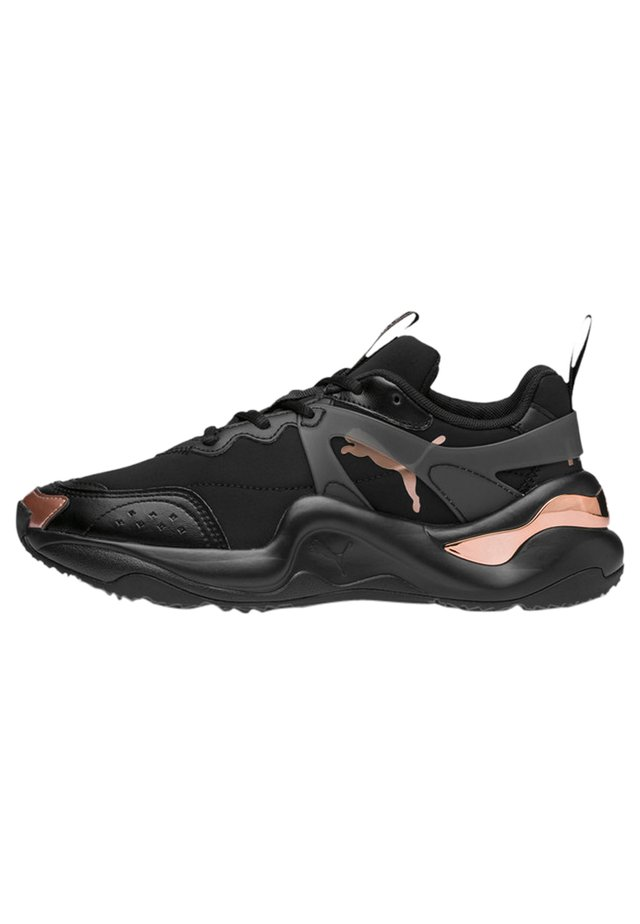 Stabilty running shoes - black-rose gold