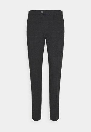 JPRSEERSUCKER TROUSER - Trousers - dark grey