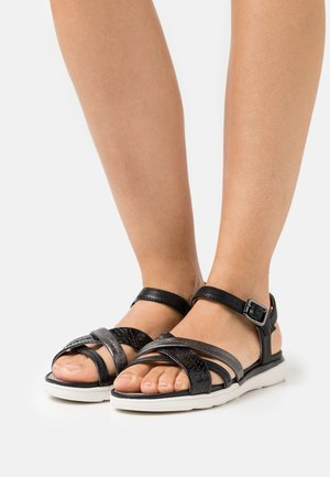 HIVER  - Sandals - black/gun