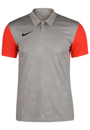 TROPHY IV - Sports shirt - pewter grey / bright crimson / black