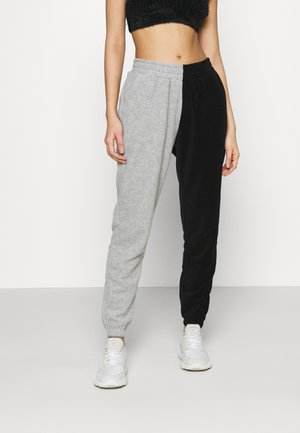 NEW COLOUR BLOCK JOGGER - Tracksuit bottoms - black/grey