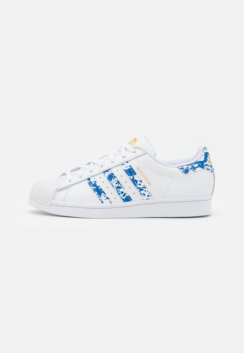 adidas Originals - SUPERSTAR UNISEX - Tenisky - footwear white/blue/gold metallic