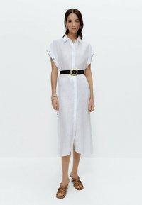 Uterqüe - Shirt dress - white - 1