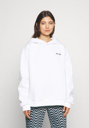 LOGO OVERSIZED HOODIE - Sweatshirt - white