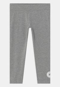 Converse - SCRIPT LOGO SET - Leggings - Trousers - dark grey heather - 2