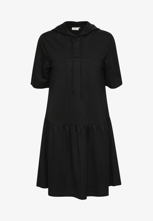 KAMAPLE - Jersey dress - black deep