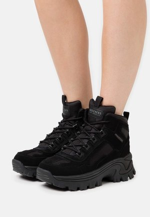 STREET BLOX - Lace-up ankle boots - black