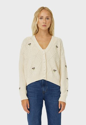 Strickjacke - white