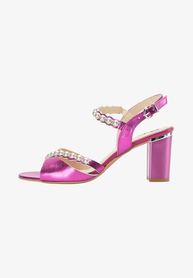 Sandalen met hoge hak - pink metallic