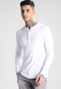 KnowledgeCotton Apparel - Top s dlouhým rukávem - bright white - 0