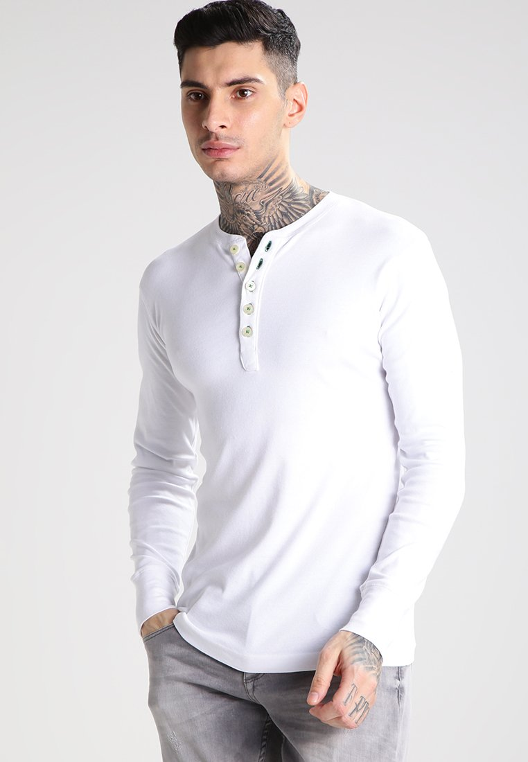 KnowledgeCotton Apparel - Top s dlouhým rukávem - bright white