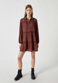 PULL&BEAR - Shirt dress - mottled brown - 1