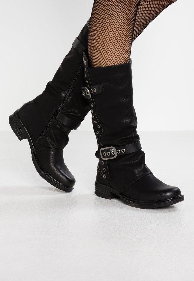 GISELE - Kowbojki i obuwie motocyklowe - black