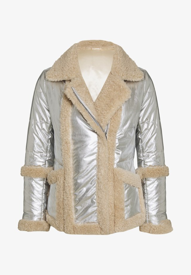 BEAU - Winter jacket - beige/silver