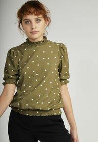 NAF NAF - Print T-shirt - green - 0