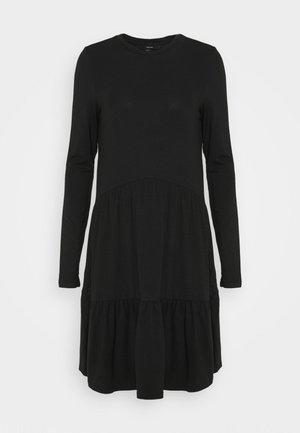VMJAVA PEPLUM DRESS - Jersey dress - black
