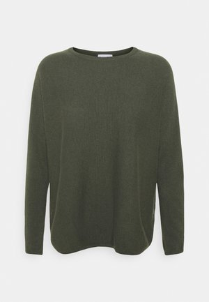 CURVED SWEATER - Jumper - army green