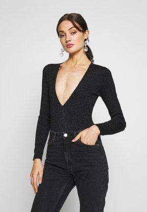 KASSIDY - Maglietta a manica lunga - black