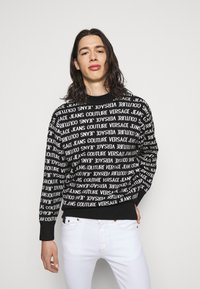Versace Jeans Couture - FILATO MIXED LETTERING  - Jumper - black - 0