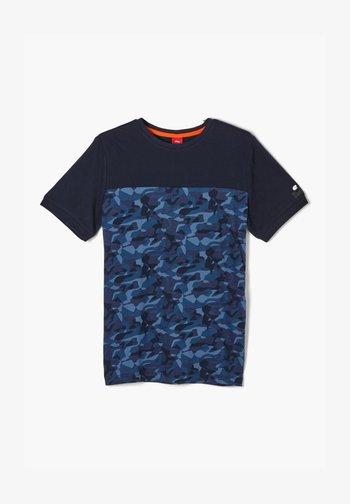 MIT CAMOUFLAGE PRINT - Print T-shirt - dark blue aop
