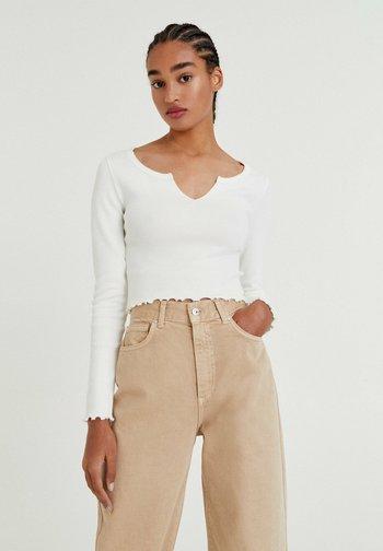 2 PACK - Maglietta a manica lunga - brown