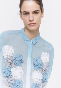 Uterqüe - Button-down blouse - blue - 4