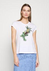 Marc Cain - Print T-shirt - white/black - 0