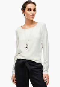 s.Oliver BLACK LABEL - Long sleeved top - soft white - 11