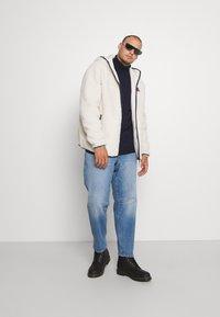 Tommy Jeans Plus - PLUS SHERPA ZIP THRU HOODIE - Fleece jacket - ecru - 1