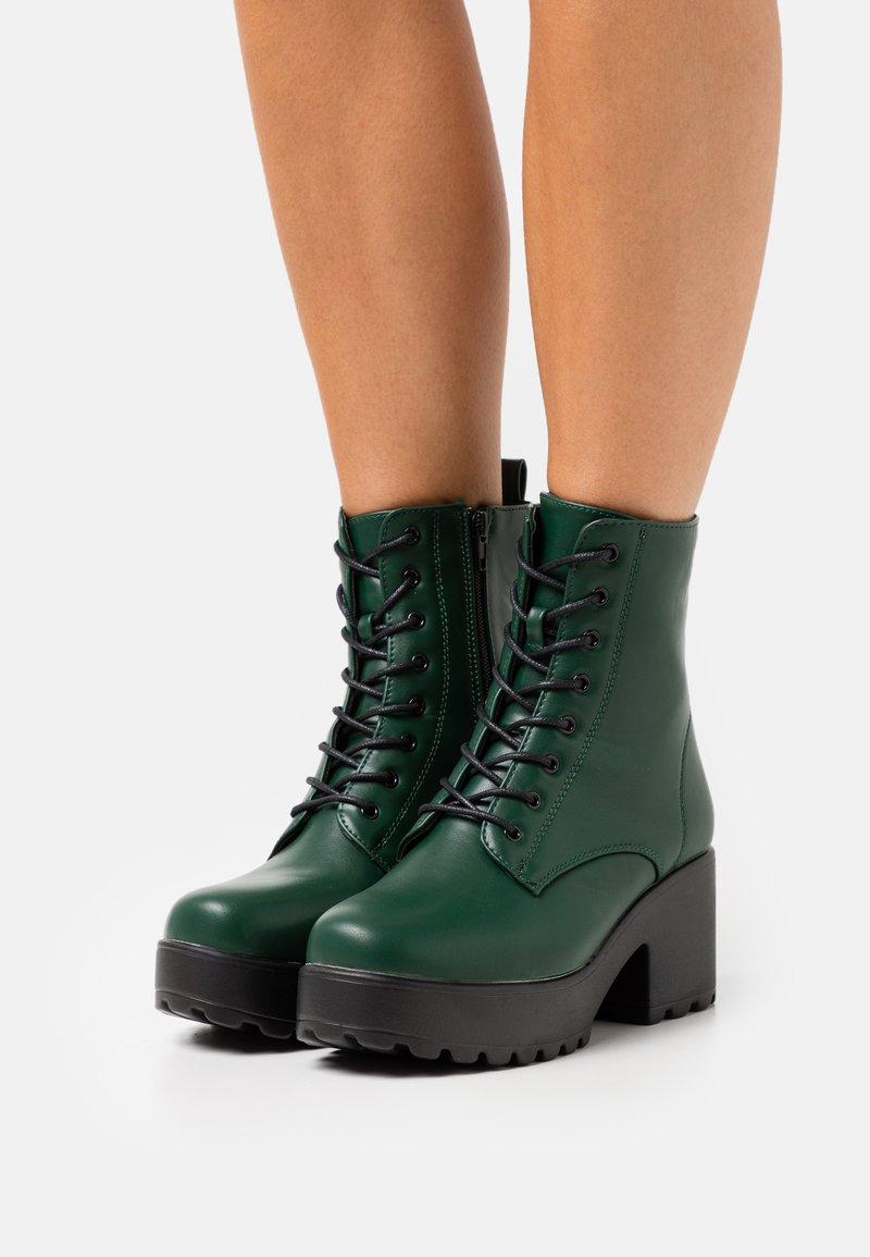 Koi Footwear - VEGAN GIN - Platform ankle boots - khaki