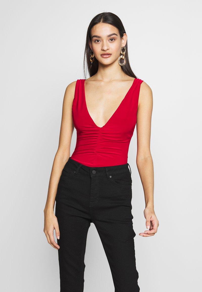 Club L London - BACKLESS PLUNGE - Top - red