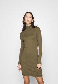ONLY - ONLELLY ROLLNECK DRESS - Jumper dress - kalamata - 0
