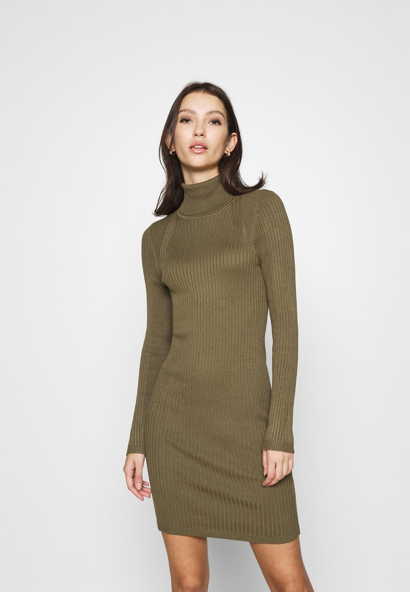 ONLY - ONLELLY ROLLNECK DRESS - Jumper dress - kalamata